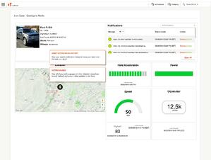 """Get a quick snapshot of the latest updates from your Asset out in the field by clicking on """"Details"""" on the Live Data map, where you will see all recent applicable Notifications for your Asset, from Location and Geofence, to Speed and more."""